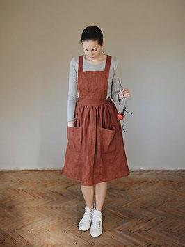 Women's Linen Skirt with Braces