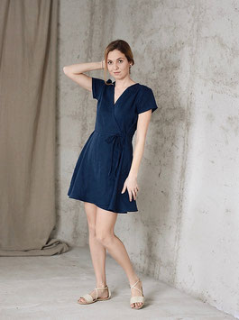 Women's linen wrap dress ELLY