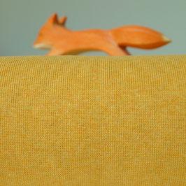 Feinstrick Bündchen Sonnengelb Meliert 50 cm