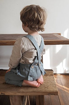 Kids Linen Trousers with Braces