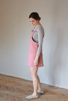 Mini Dress Mia Salmon Rose