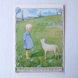 ELSA BESKOW Künstlerkarte A6 Weises Schaf