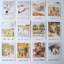 ELSA BESKOW Monatskarten