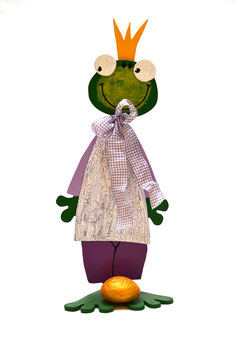 "Holzfigur ""Froschkönig"""