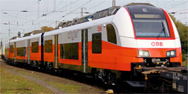 Jägerndorfer Siemens 3teilige ÖBB Triebwageneinheit Cityjet