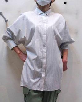 【商品No.tops_13】BLue Fronce コクーンBigシャツ【夏物】