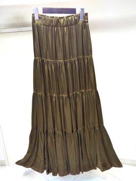 【商品No.btm_75】DoubleStandardClothing 製品染めキュプラティアードマキシスカート【秋冬物】【新着】