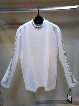 【商品No.tops_186】ESSENTIAL 天竺プリンtの襟元刺繍ビッグロングTシャツ【秋冬物】【新着】