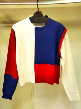 【商品No.tops_150】THOMASMAGPIE 配色ブロックニットプルオーバー【秋冬物】【新着】