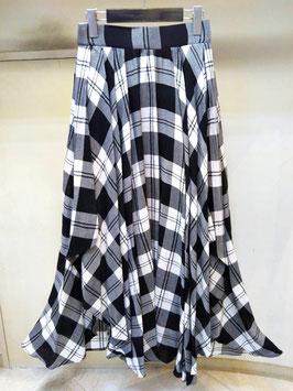【商品No.btm_67】DoubleStandardClothing イタリア製生地イレギュラーヘムチェックマキシスカート【秋冬物】【新着】