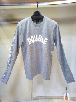 【商品No.tops_184】DoubleStandardClothing 袖ロゴ胸サガラ刺繍ロングTシャツ【秋冬物】【新着】