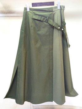 【商品No.btm_51】BLANC basque ポリエステルコットン切替ラップスカート【秋冬物】【新着】