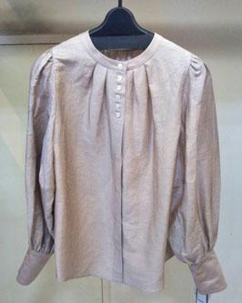【商品No.tops_15】vivaprest丸首ボタンシャツ【夏物】