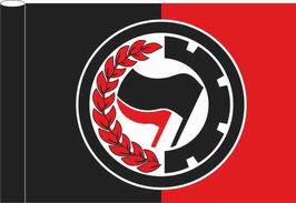 Antifa Lorbeere Fahne