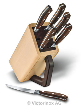 Victorinox Grand Maître Wood Messerblock, 6-teilig