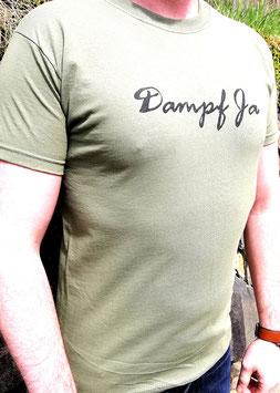 Original- T-Shirt Wood Print ( vorn )Dampf Ja (hinten ) Totenkopf