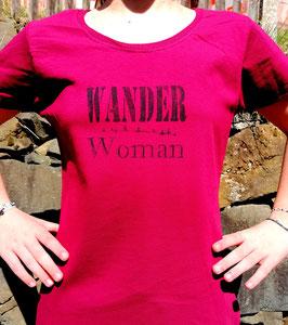 Original-T Lady-Fit T-Shirt   Wood Print ( vorn )Wander Woman