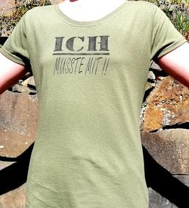 Original-T Lady-Fit T-Shirt   Wood Print ( vorn )ich musste mit