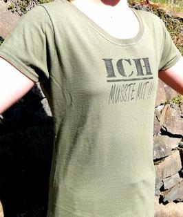 Original- T-Shirt Wood Print ( vorn ) Ich musste mit