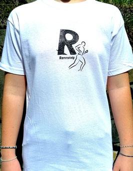 Original- T-Shirt Wood Print ( vorn )Rennsteig R (hinten) Rennsteigstrecke