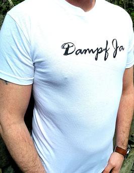 Original- T-Shirt Wood Print ( vorn )Dampf Ja