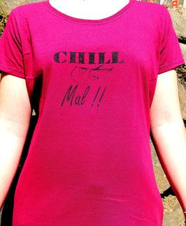 Original-T Lady-Fit T-Shirt   Wood Print ( vorn )Chill Mal