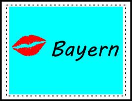 Aufkleber Bayern-Kuss