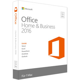 Microsoft Office Home and Business 2016 für MAC ESD