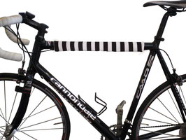 BikeWrappers: Black and White Stripes (just the top tube wrap)
