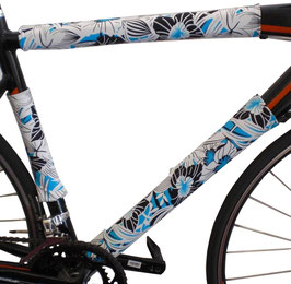 BikeWrappers: Blue and White Floral