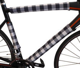 BikeWrappers: Black and White Checkerboard