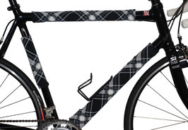 BikeWrappers: Black and White Plaid