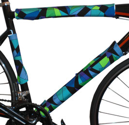 BikeWrappers: Blue and Green Kaleidoscope