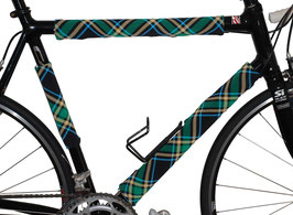 BikeWrappers: Blue and Green Plaid