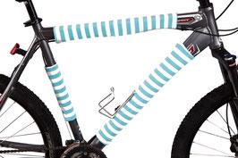 BikeWrappers: Aqua Blue Stripes