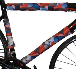 BikeWrappers: Red, White, and Blue Kaleidoscope