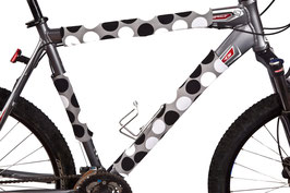 BikeWrappers: Black and Grey Polka Dots