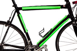 BikeWrappers: Neon Green and Black Stripes