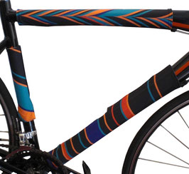 BikeWrappers: Orange, Red, and Blue Stripes