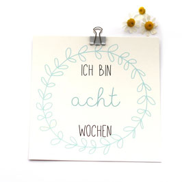 "Meilensteinkarten Baby | 13er Set ""Babys Alter"""
