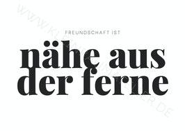 """Postkarte """"Freundschaft ist..."""""""
