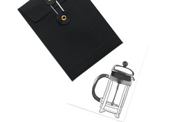Kaffee Postkarte French Press