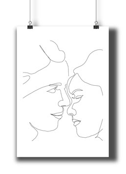 ONE LINE POSTER soulmates A4