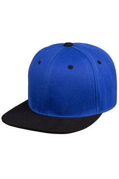 Шестипанельная двухцветная акриловая    синий с чёрным козырьком