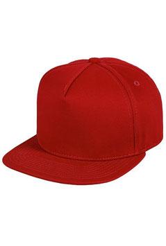 Пятипанельная однотонная хлопковая   красный