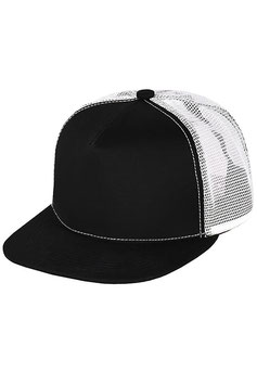 Пятипанельная двухцветная хлопковая   |  черный с белой сеткой