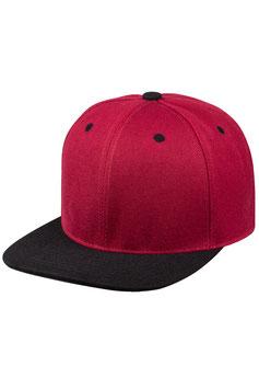 Шестипанельная двухцветная акриловая    бордовый с чёрным козырьком