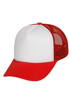 Пятипанельная двухцветная полиэстер  | красный с белым передком
