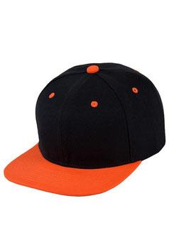 Шестипанельная двухцветная акриловая    чёрный с оранжевым козырьком
