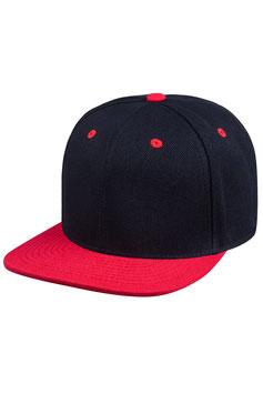 Шестипанельная двухцветная акриловая    чёрный с красным козырьком
